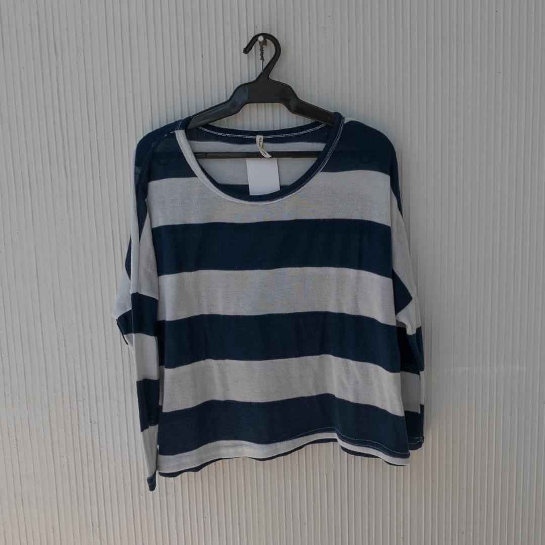Navy Blue Stripe Sweater