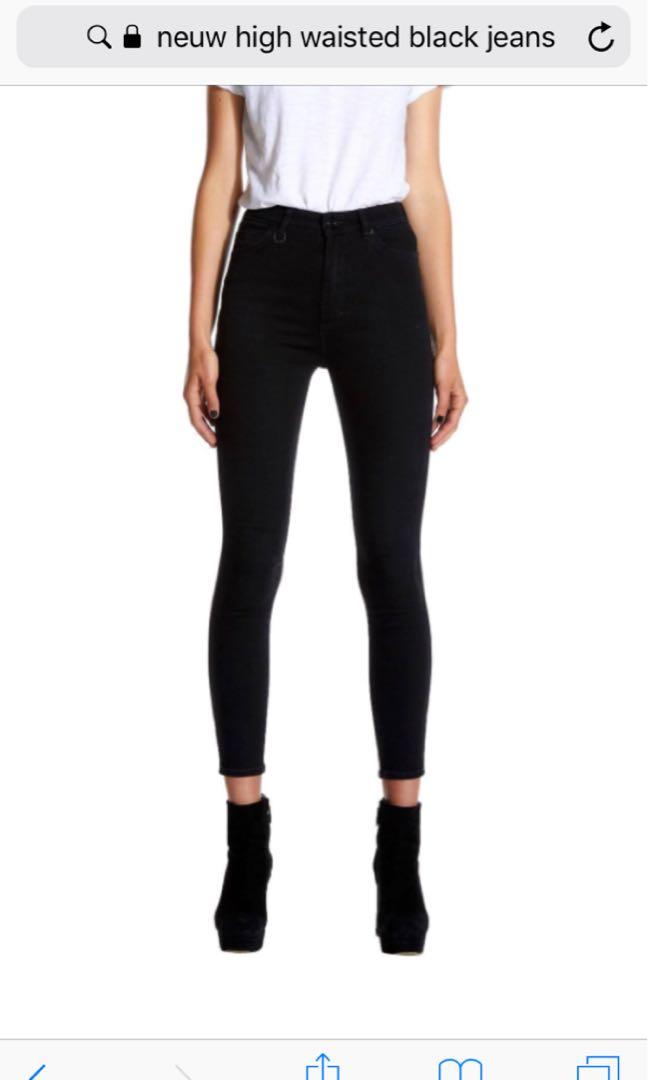 neuw black denim jeans