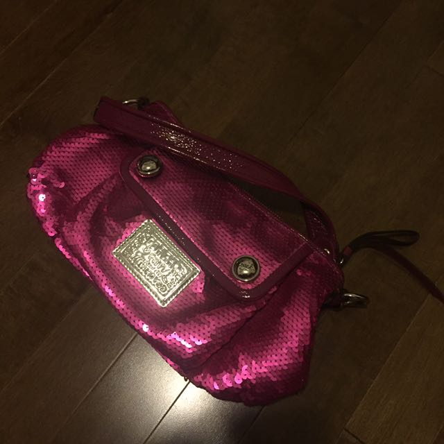 NEW Coach poppy small handbag 👜👛with sequence 10/10 condition