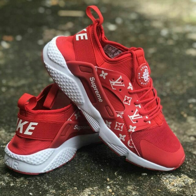 newest cd149 4b67d Nike Air Huarache Supreme LV Red, Men s Fashion, Footwear, Sneakers ...