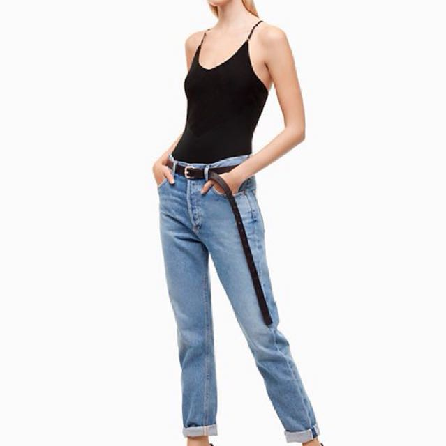 NWT AGOLDE X TALULA HIGH RISE ANKLE JEANS