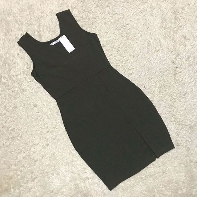 Olive Green Bodycon 👗