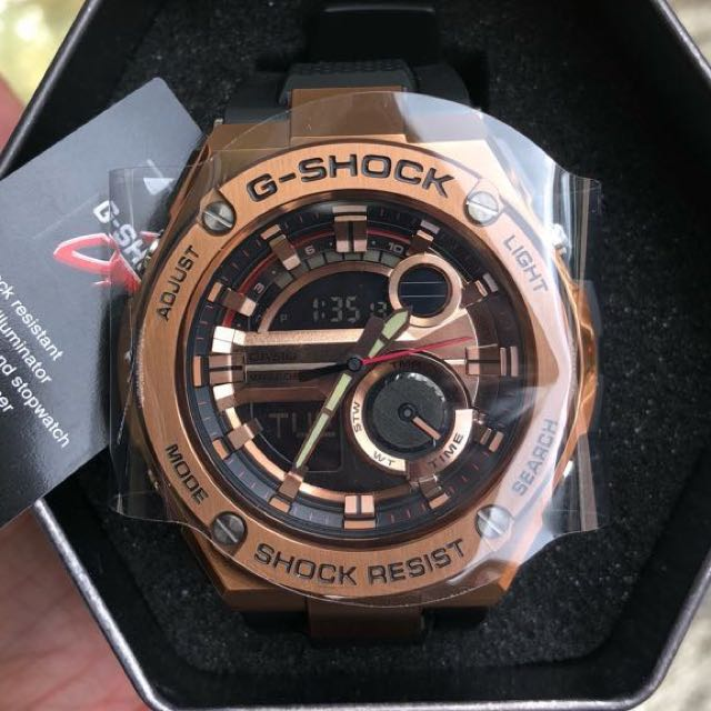 b6986fd08938 Original Authentic GST-210B G-Shock G-Steel Rose Gold Series! Casio ...