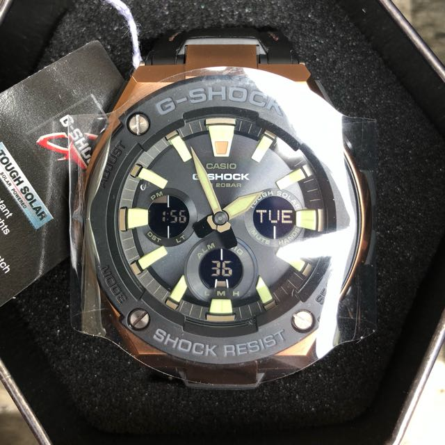 23c43f380502 Original Authentic GST-S120L G-Shock G-Steel Tough Solar Rose Gold ...