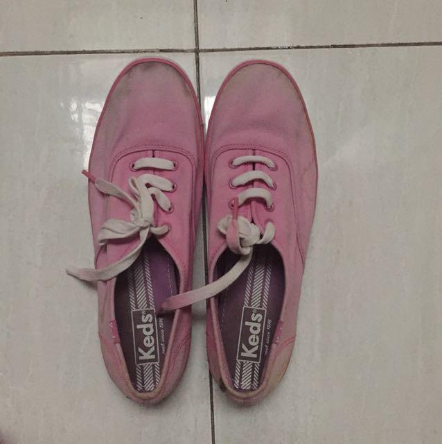 pink keds shoes