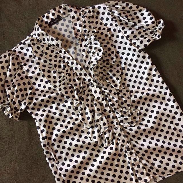 Polkadot White Shirt