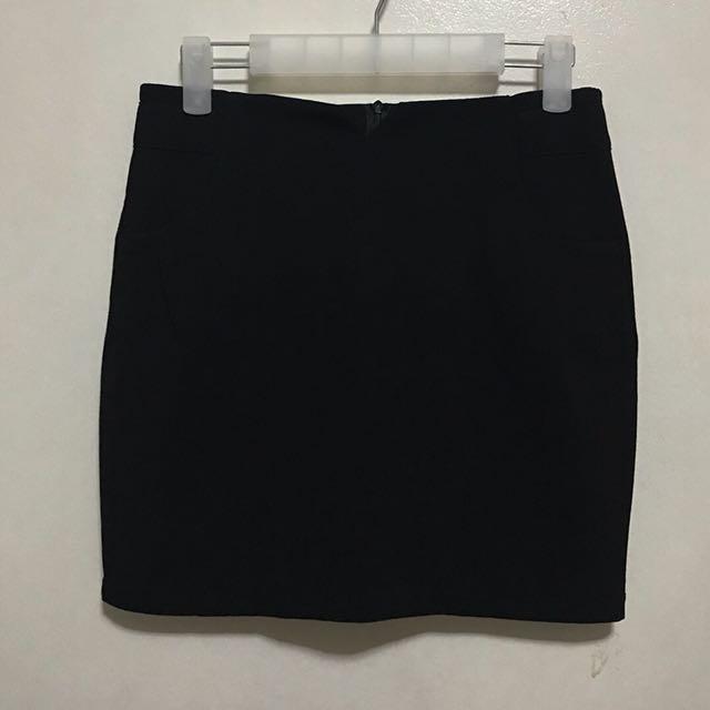 [Preloved] Black Pencil Office Corpo Skirt