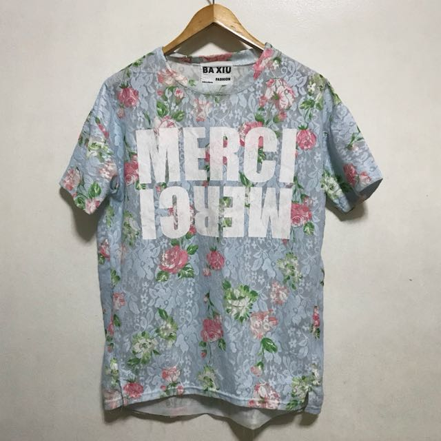 [Preloved] Plus Size Oversized Statement Floral Shirt