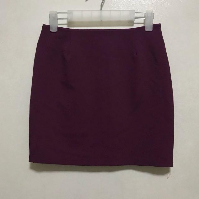 [Preloved] Purple Violet Office Corpo Skirt