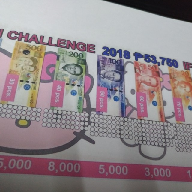 Print For Ipon Challenge Label Looking For On Carousell