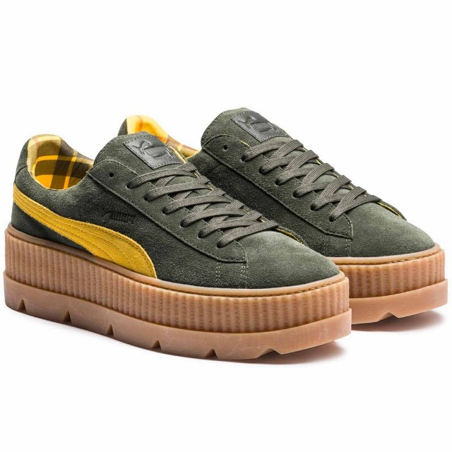 low priced 5af49 8593a PUMA FENTY SUEDE CLEATED CREEPER WOMEN'S ROSIN-LEMON-VANILLA ICE