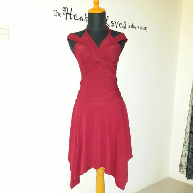 Red dancer dress