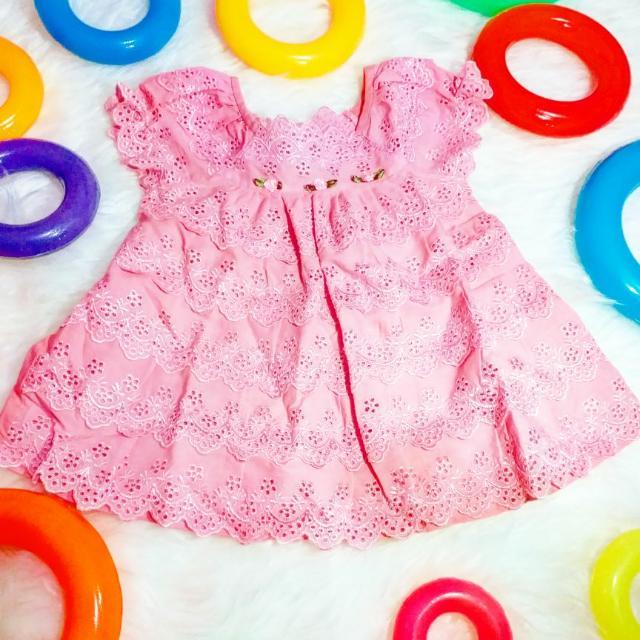 Rok Dress Bayi 6 Bulan Pink Lucu #imelkhoki