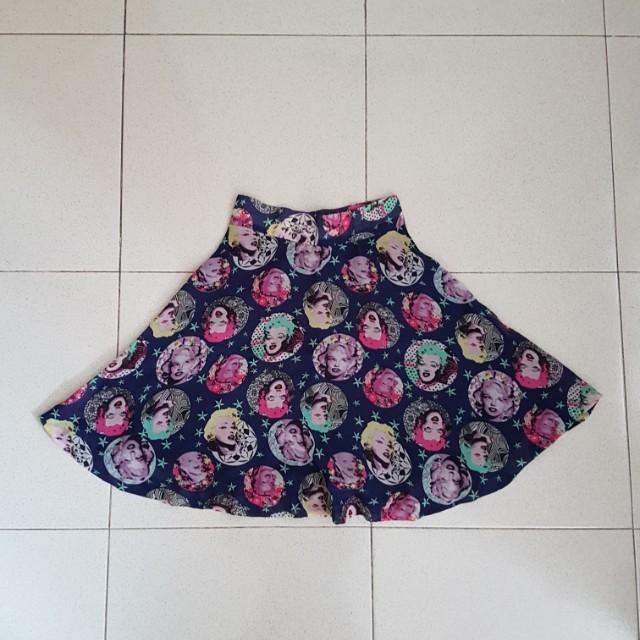 Rok marilyn monroe skirt miniskirt mini