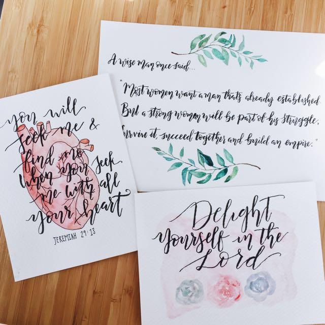 [SALE] Calligraphy Cards