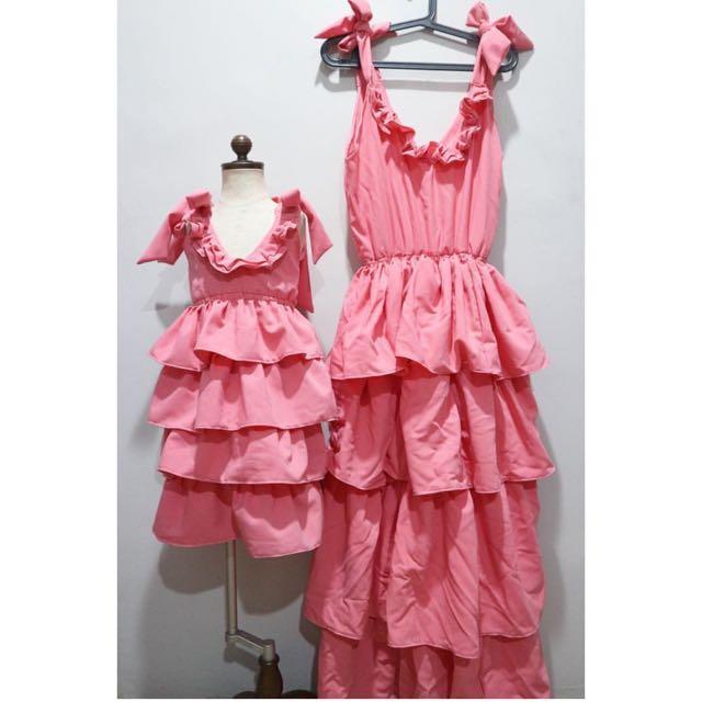 SALE❣️Mom&Baby Maxi Tiered Dress