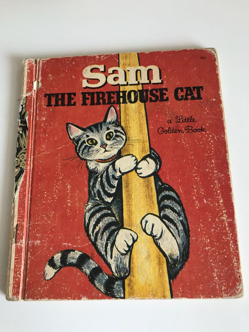 Sam - The Firehouse Cat - Little Golden Book