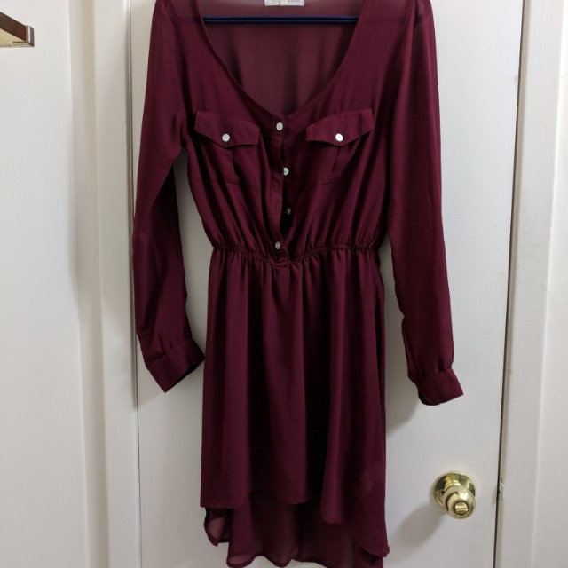 Sheer red dress size s