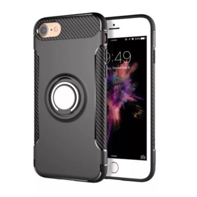Shockproof Black IPhone 6 / 6s Case with iRing