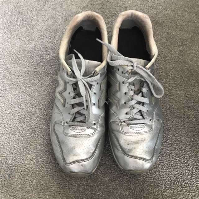 Silver New Balance Shoes
