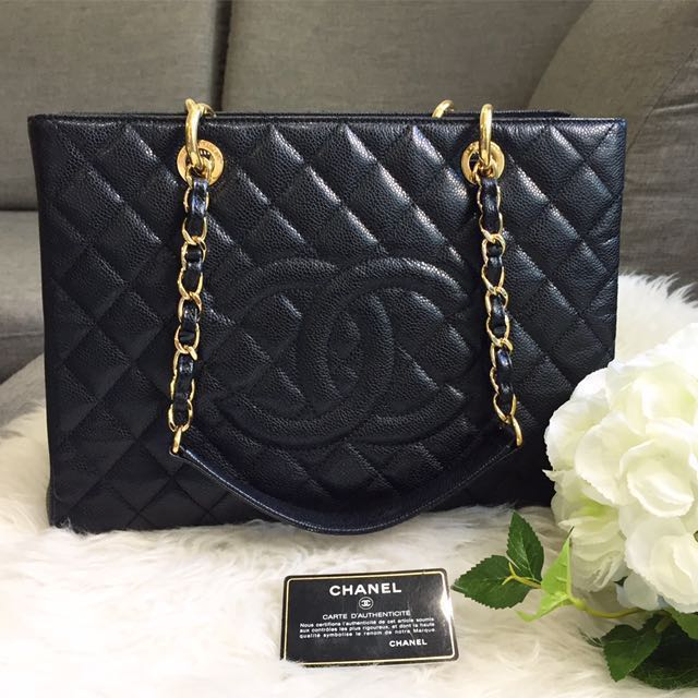 4835930ff9a7 ❌SOLD❌ Very Good Condition Chanel Grand Shopping Tote (GST) In ...