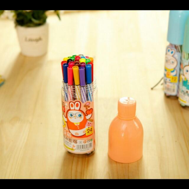 Spidol 12 warna Kemas Botol Lucu