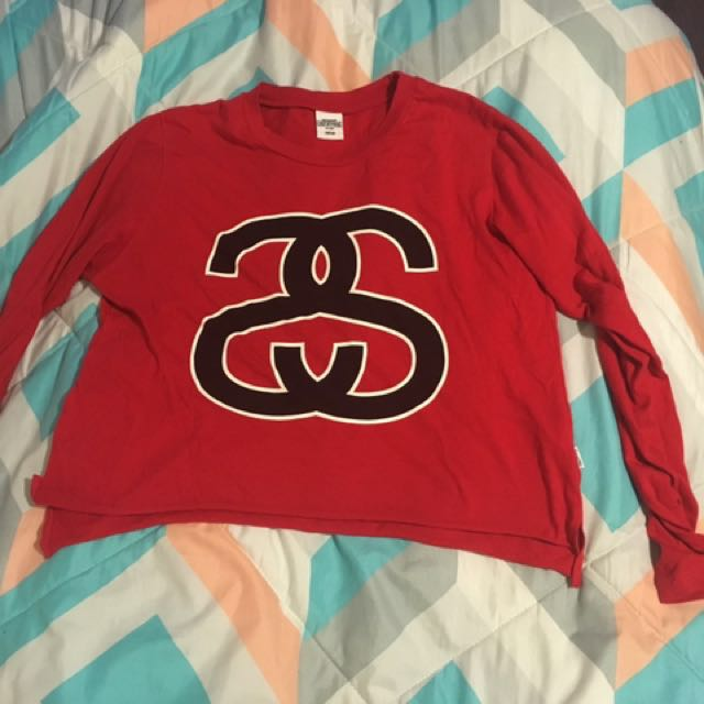 Stussy Long Sleeve Crop