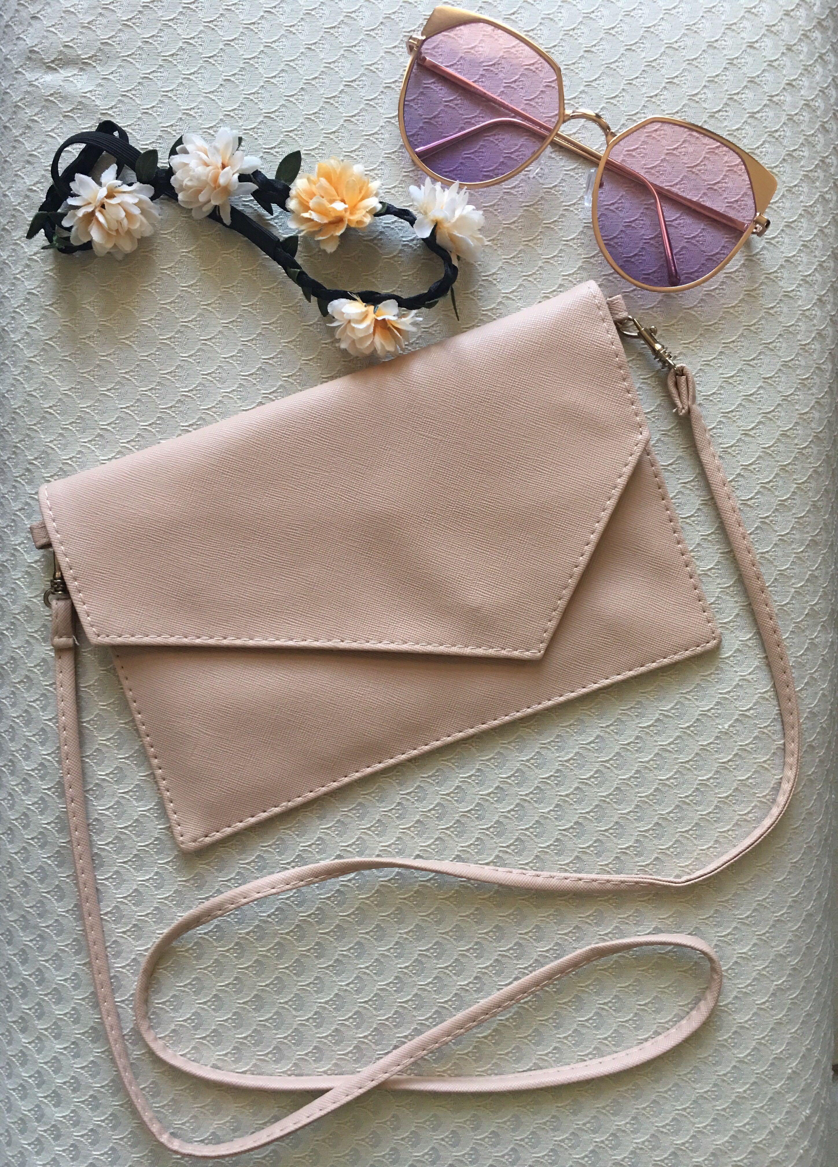 SUPER SALE! Pastel Pink Coachella Sling Bag Faux Leather