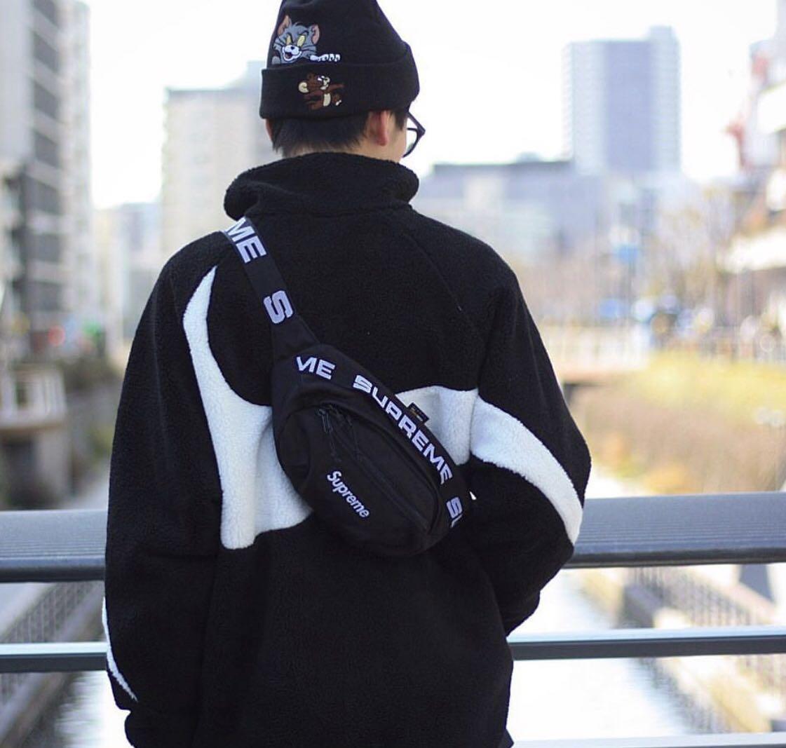 Supreme SS18 Logo Repeat Waist Bag, Men's Fashion, Bags & Wallets
