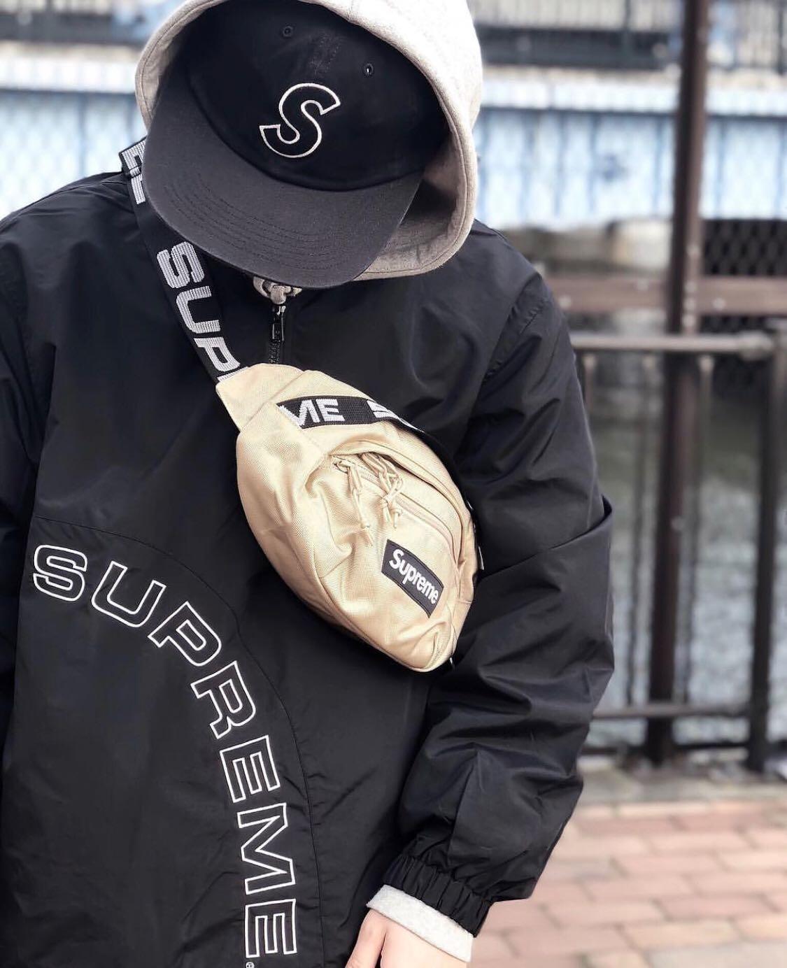 2e1e5ead06 Supreme SS18 Logo Repeat Waist Bag, Men's Fashion, Bags & Wallets di  Carousell