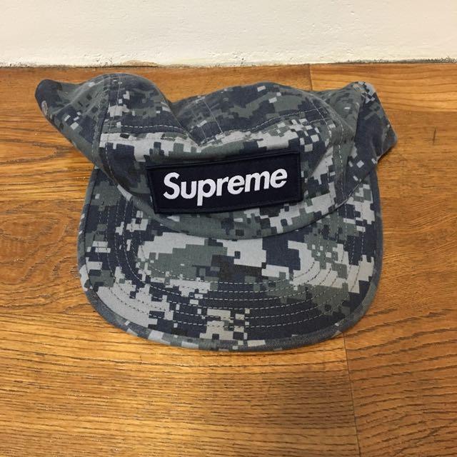 Supreme twill camp cap 藍
