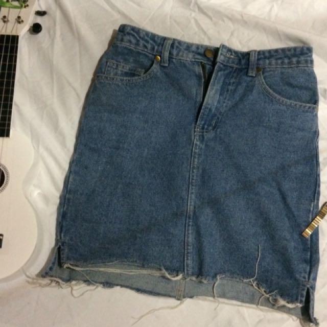 Surplus denim skirt