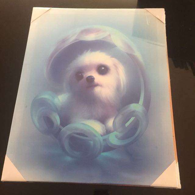 Sweet Puppy 🐶 canvas with lights
