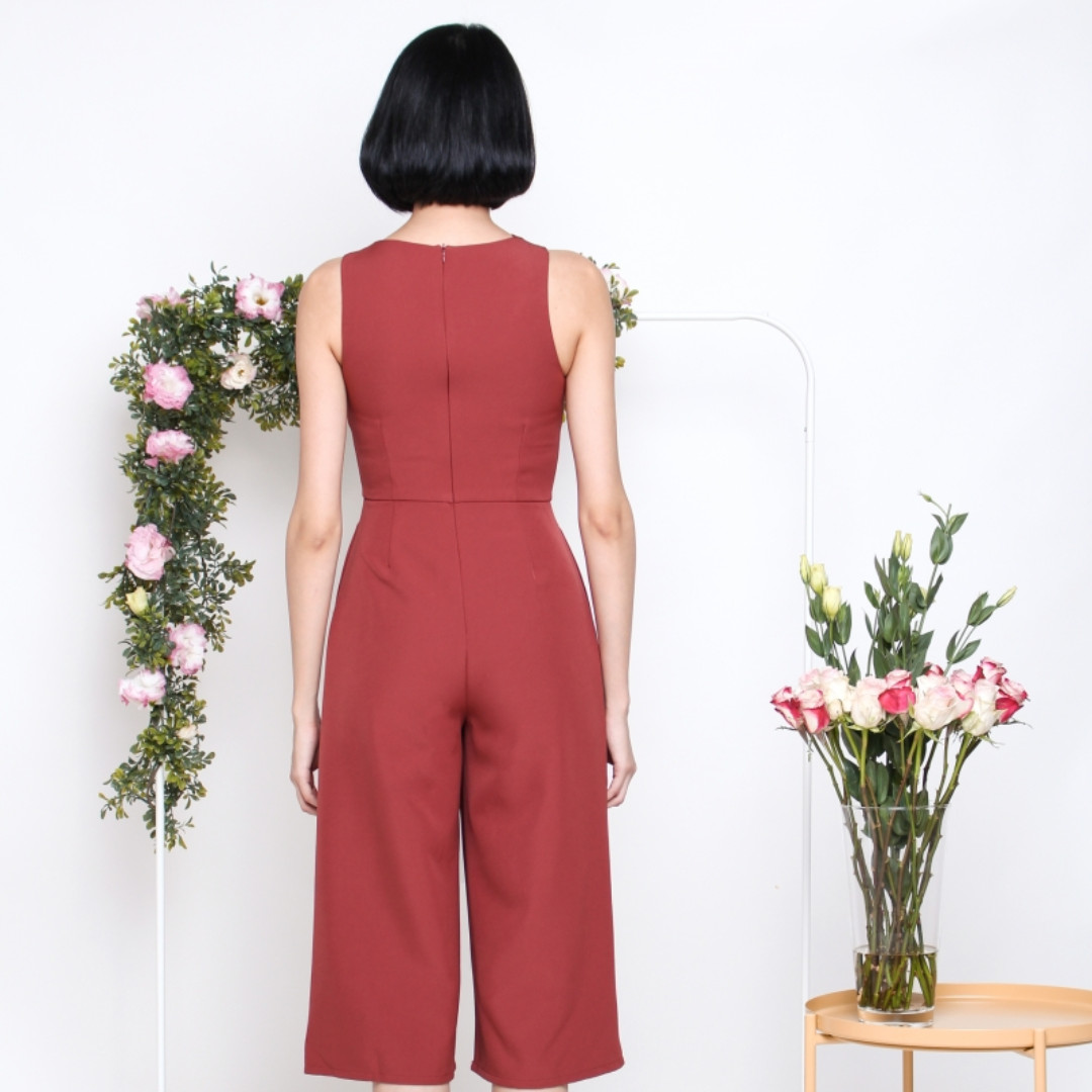 e05ebe5cc54 The Willow Label Brea Crossfront Jumpsuit in Sienna