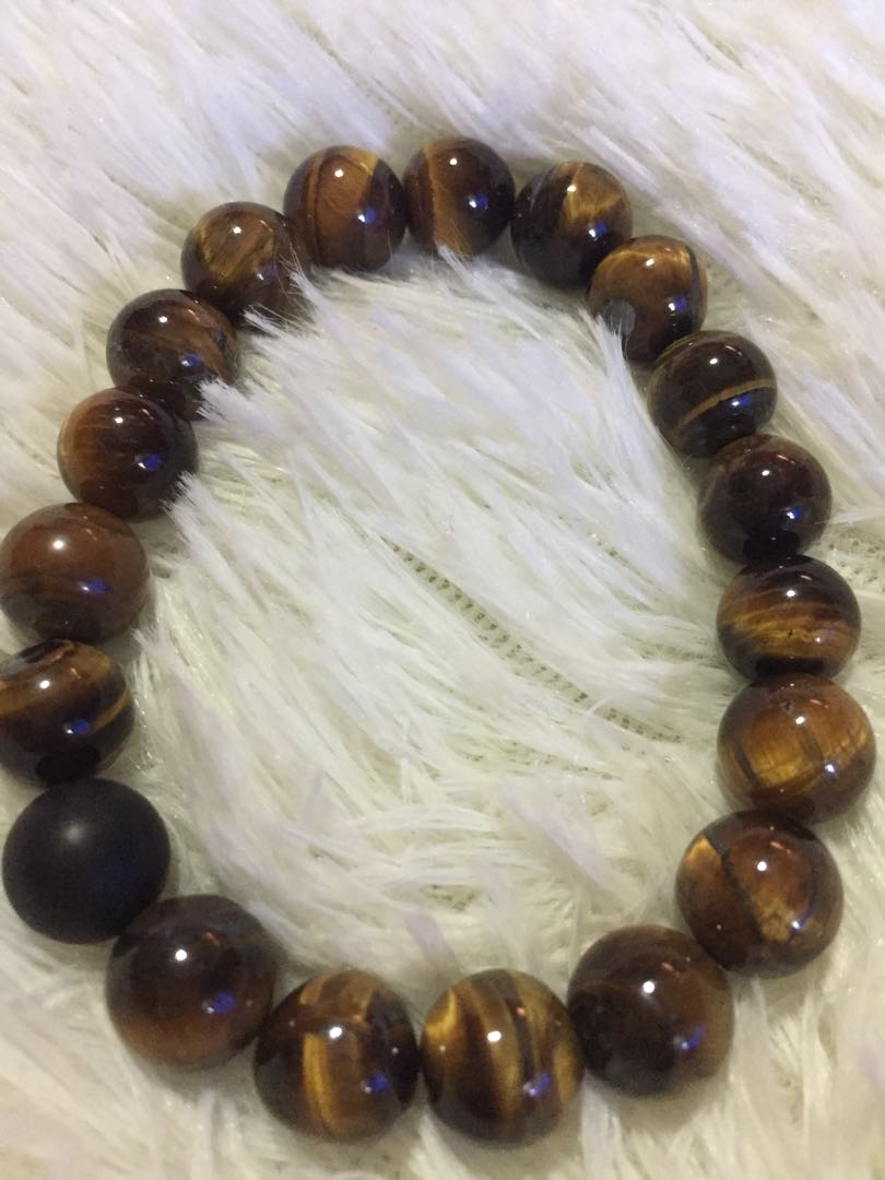 Tiger eye lucky charm bracelet