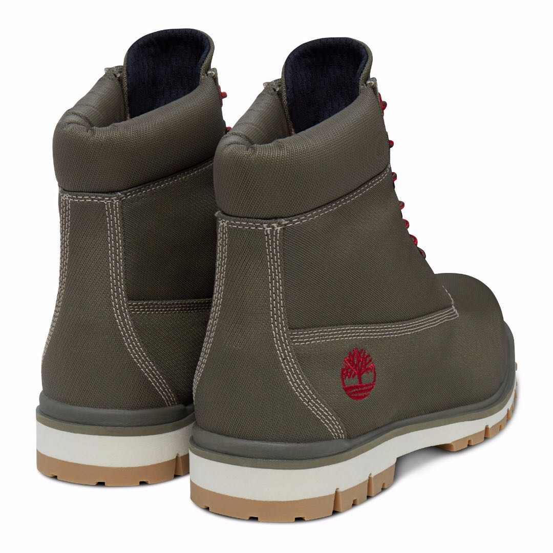 Bekend TIMBERLAND Men's Radford canvas 6 Inch Boots in Olive Green  #WK02