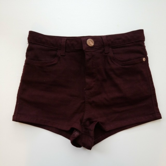 Topshop Burgundy shorts