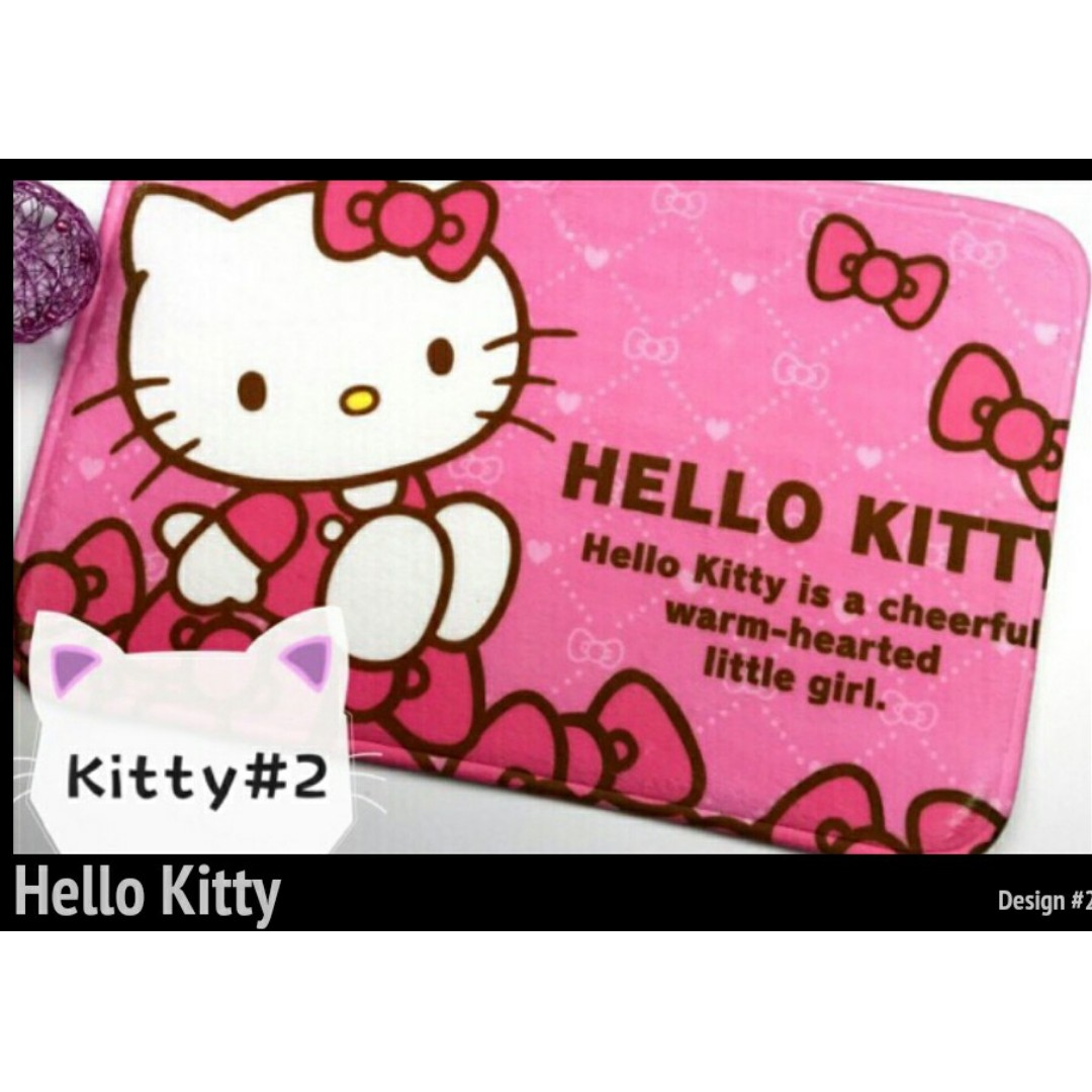 Tsum and Hello Kitty Design Doormat
