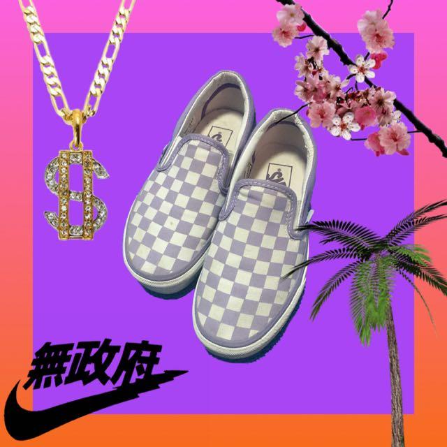 🚧特價🉐️Vans 限量紫色棋盤格鞋🏁