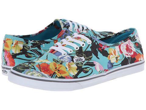 Vans Authentic lo pro floral skate shoe 29551a84aabb