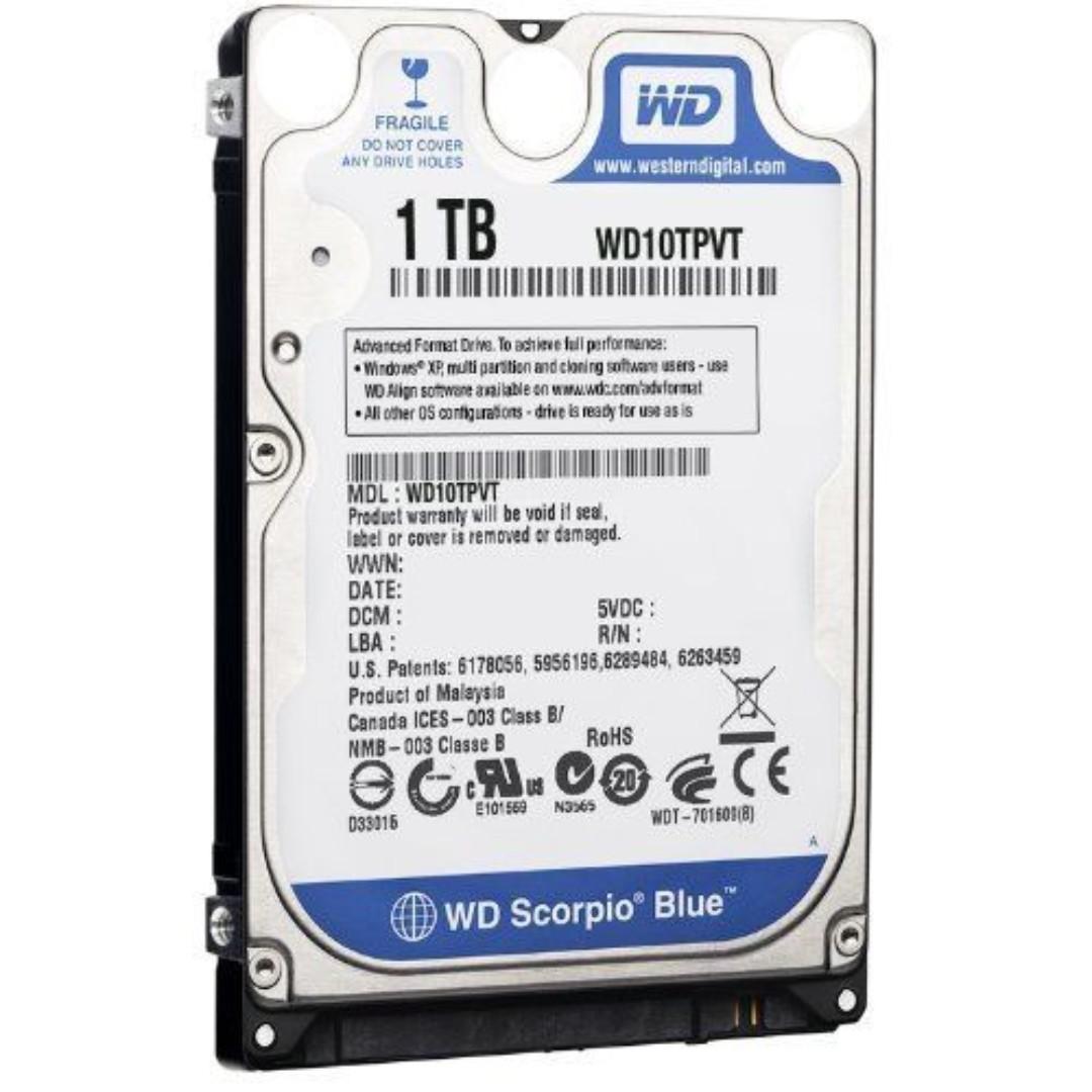 WD 1TB 2 5 5200RPM HDD