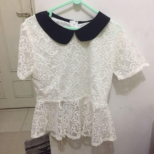 white colar blouse