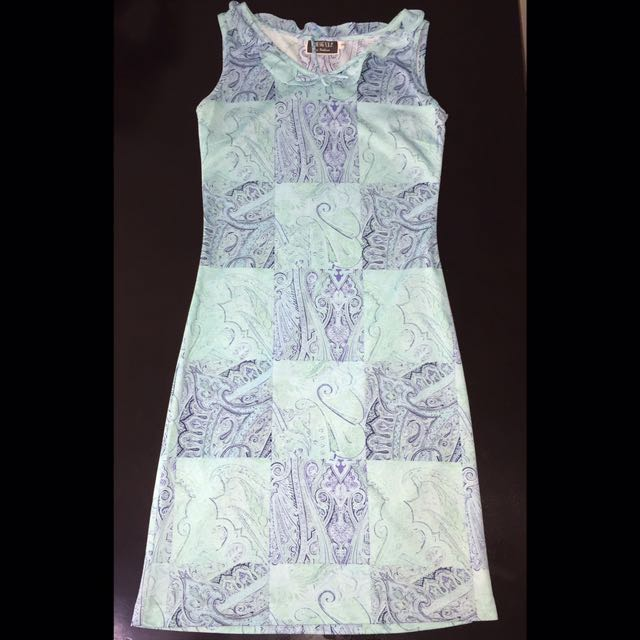 YVIP Patterned Fitted Dress