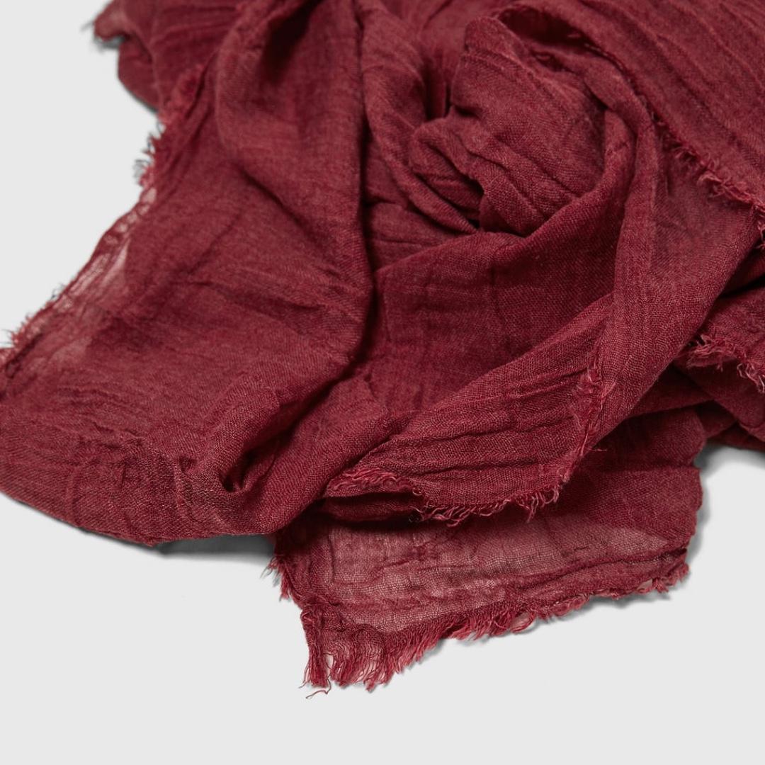 Zara Basic Fringed Foulard Scarf 3081efa2d9