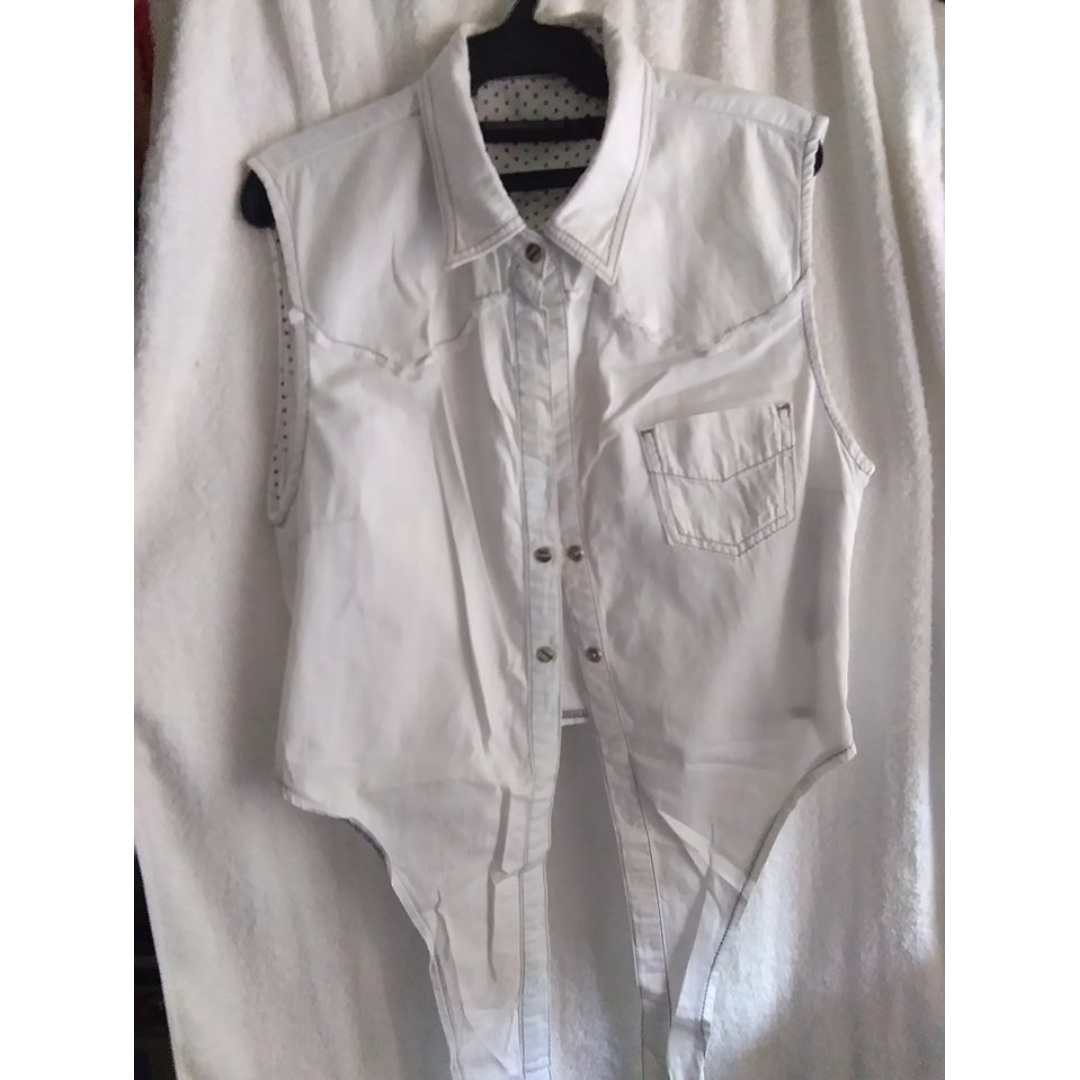 Zara denim blouse