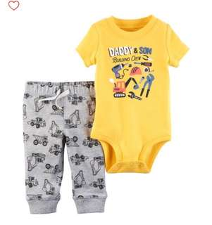 *6M* Brand New Carter's 2-Piece Bodysuit Pant Set  For Baby Boy