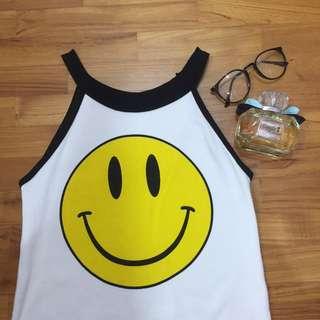 Smiley halter top