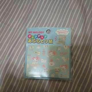 🚚 全新日本美樂蒂吸油面紙