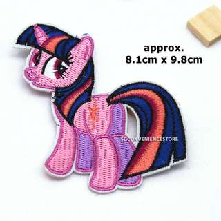 Little Pony DIY Fabric Embroidery Iron On Patch Applique Motif Badge Decal - Twilight Sparkle