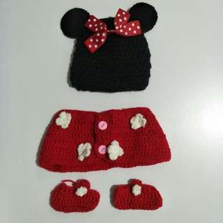 Knitted Minnie Mouse Costume